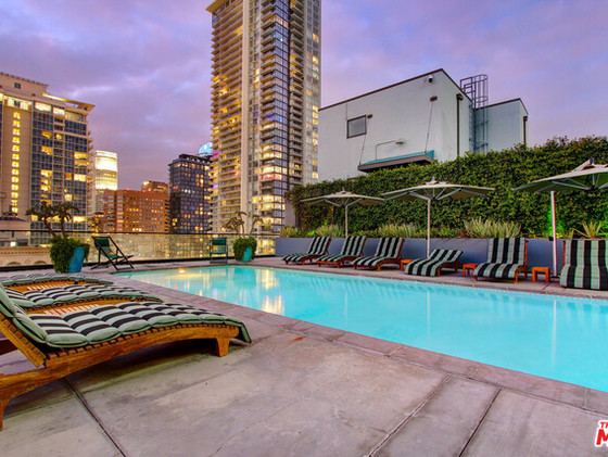 Poolside at the Eastern Building in DTLA