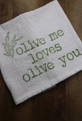 olive my loves olive you towel - Erika C