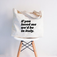 Italy Themed Tote Bag