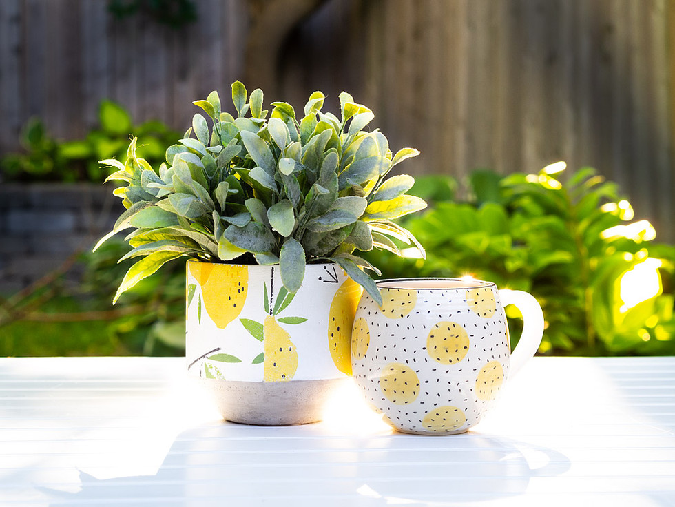 Posh lemon planter and mug - Martine Far