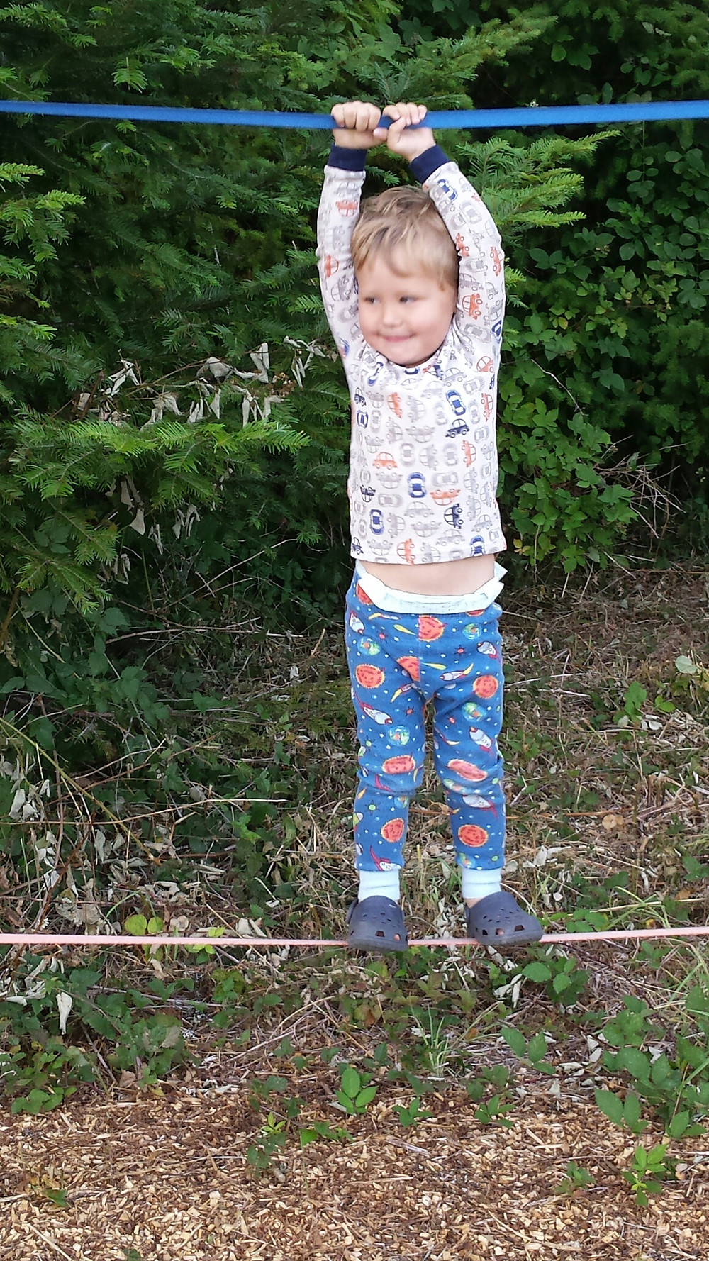 Why yes, we often take walks in our pj's