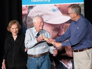 President and Mrs. Carter to bring their Habitat for Humanity work project to the Music City in 2019