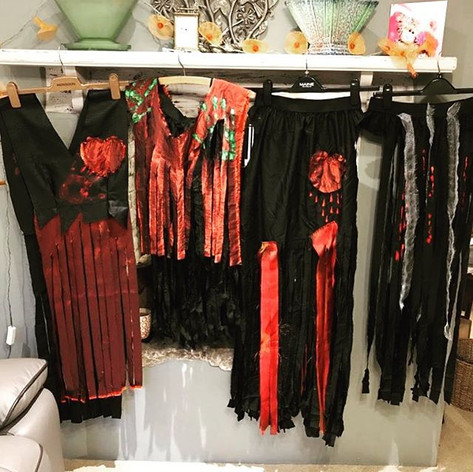 Costumes nearly ready for Halloween show