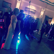 Beautiful bride singing with her choir #