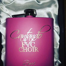 So chuffed with these #choir #hipflask #