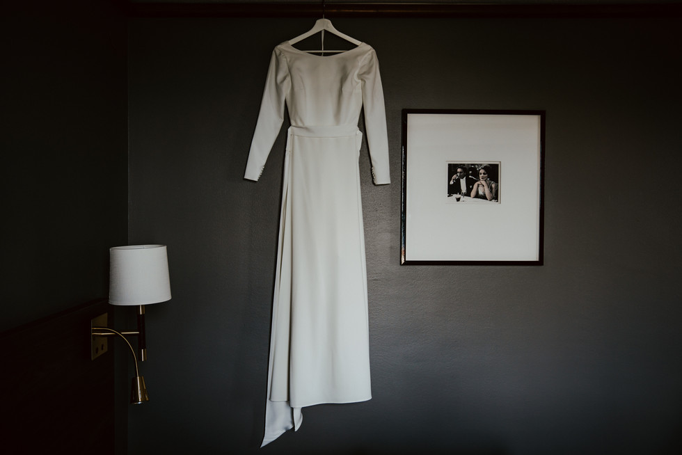 the dress in shadows