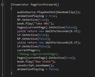 Page turn code