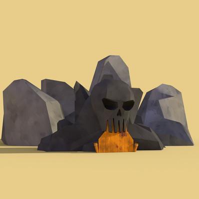 Skull mountain render