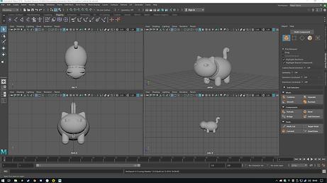 Low poly cat 3D