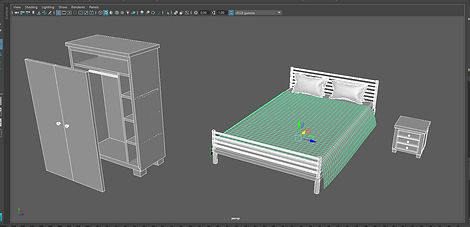 3D models bedroom furniture