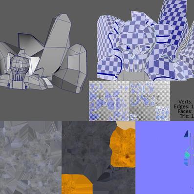 Skull mountain texture breakdown