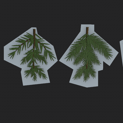 Pines - High to Low Poly