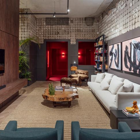 Um loft descolado e elegante: marcas do projeto de Luiz Sentinger