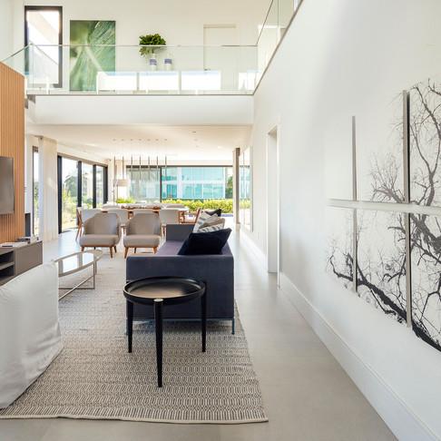 Projeto para casa de praia em tons neutros