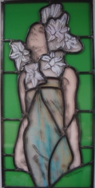 lady with lilies