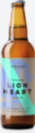 Botteled Lion Heart beer