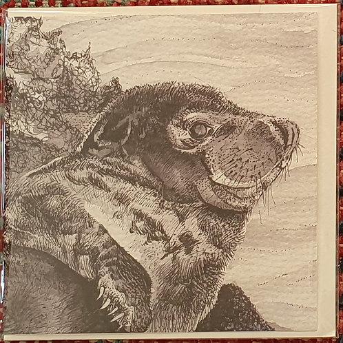 Flame seal blank greetings card (15cm x 15cm)