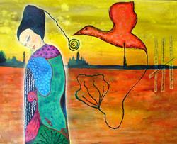 Mulher e Pássaro