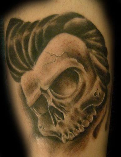Rock-a-Billy Skull