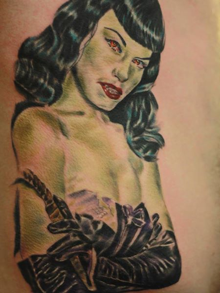 Vamped Bettie Page
