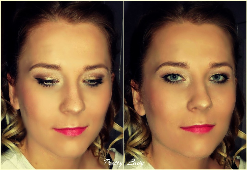 Makijaż w odcieniach złota i brązu