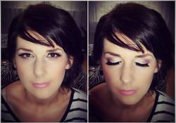 makijaz slubny w fiolecie