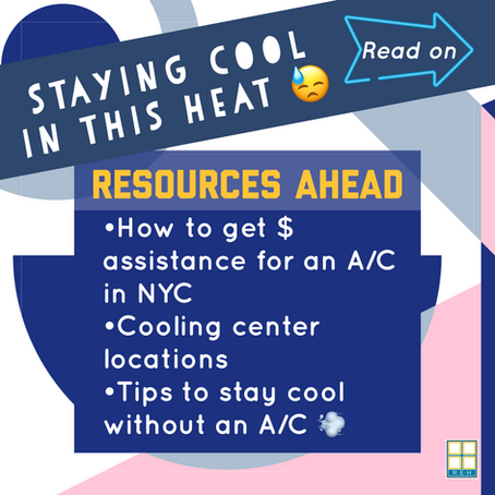 HOW TO STAY COOL IN EH & NYC