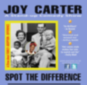 Spot The Difference is stand-up comedian Joy Carter's comedy adoptin show. Still touring since 2016