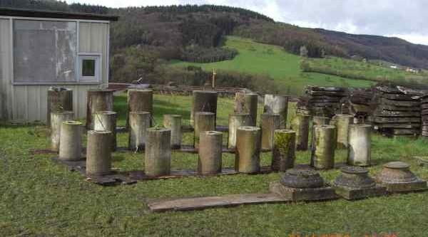 Säulenteile sortieren