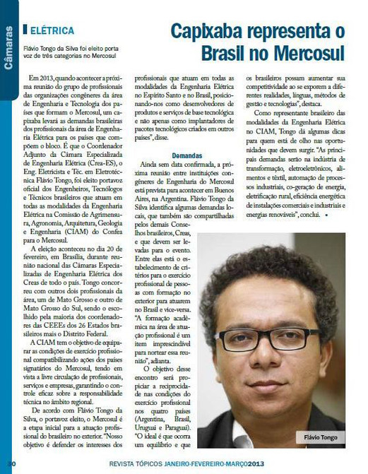 Revista Tópicos, CREA-ES