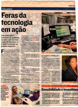 """""""Feras da Tecnologia em ação"""" - A Gazeta"""