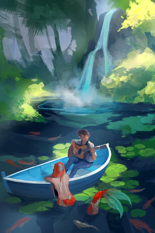 Koi Pond Poster Print