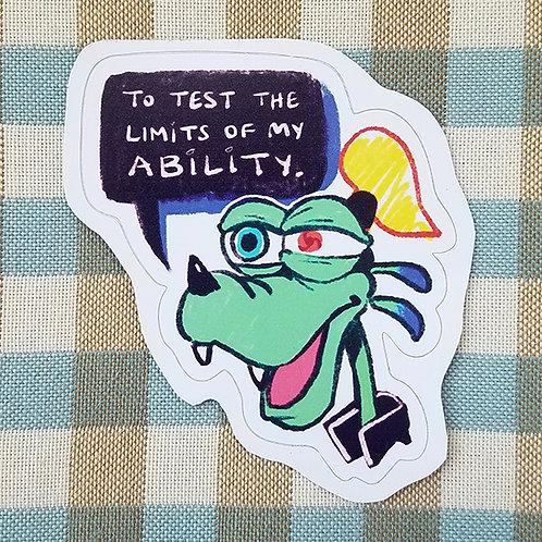 Monster Goofy Sticker