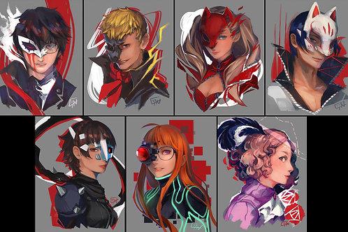 Persona 5 Character Prints