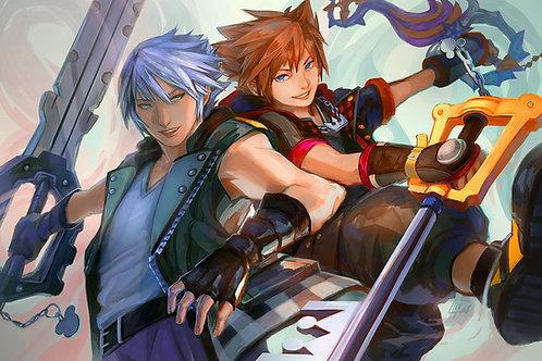 KH3 Sora & Riku Poster Print