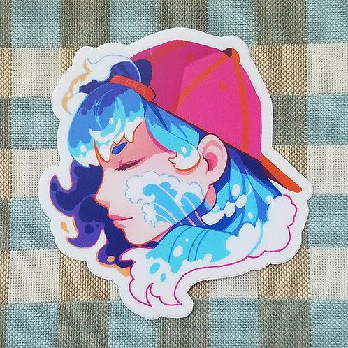 Tidal Wave Girl Sticker