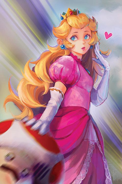 Peach Poster Print
