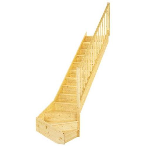 Escaliers QT BAS avec contremarche et rampe