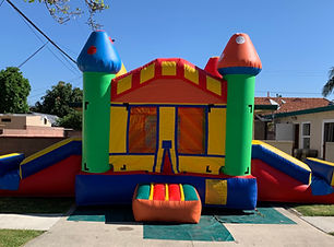 Double slide jumper house bounce castle.