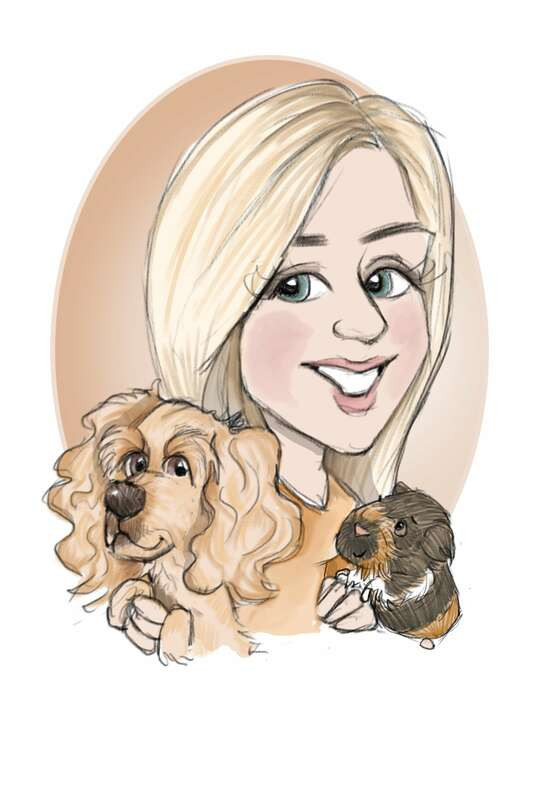 Dog, person and guinea pig illustration | Picky Pencil