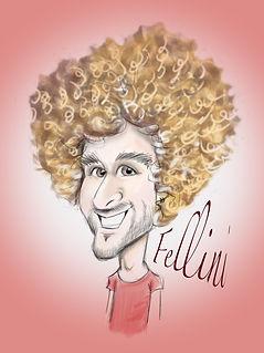 fellini footballer digital caricature drawing | Picky pencil caricaturist