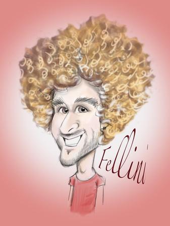 fellini footballer digital ipad caricature | picky pencil famous faces