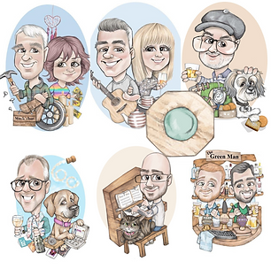 Couples quick buy picky pencil package caricature gift commission