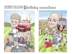 Birthday digital caricatures | February round up