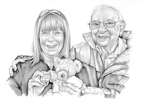 pencil portrait family drawing picky pencil