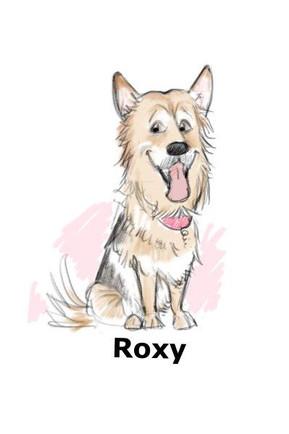 german shepard dog caricature   picky pencil dog caricaturist