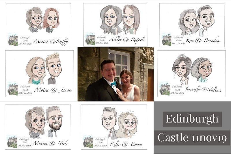 Edinburgh castle illustration artist