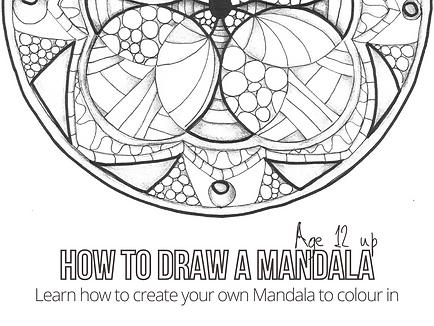 mandala colouring in workshop