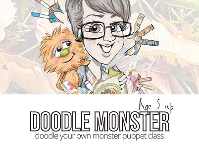 doodle monster puppet workshop