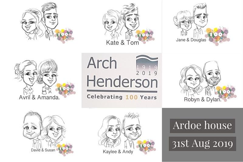 Arch Henderson Anniversary caricature